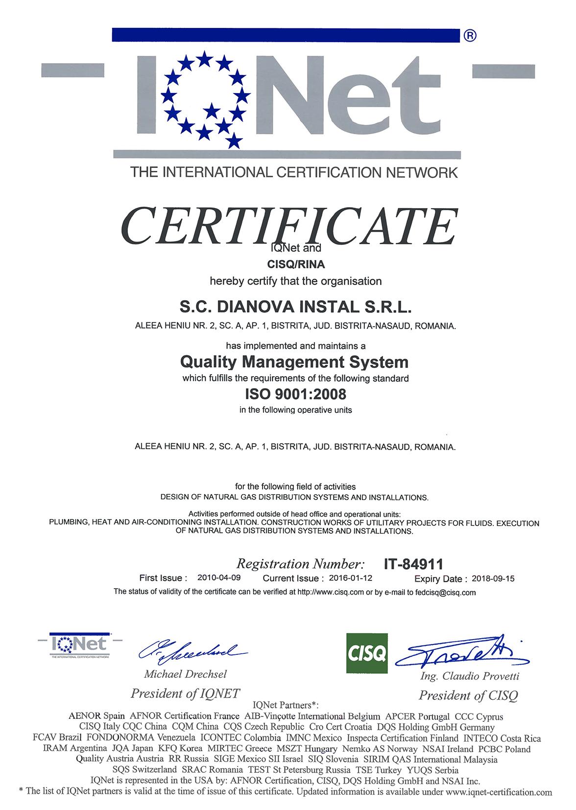 DIANOVA INSTAL – QMS+EMS+OHSAS – CERTIFICATES – IQNET-1