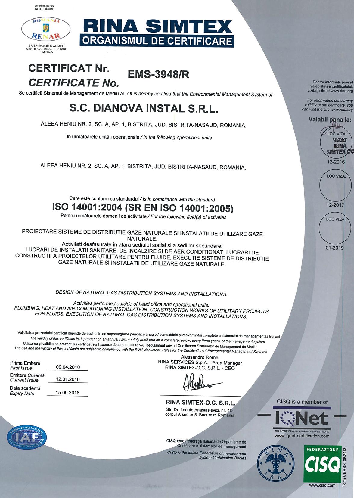 DIANOVA INSTAL – QMS+EMS+OHSAS – CERTIFICATES – RENAR-2